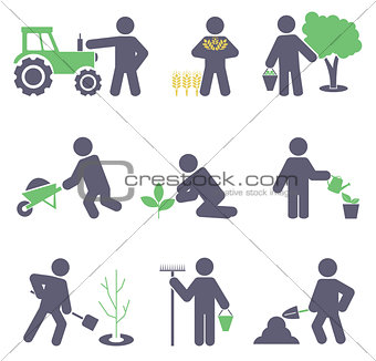 Agriculture. Set icons