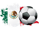 Mexico Soccer Grunge Design