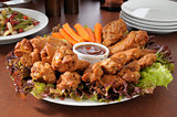 Chicken wing party tray