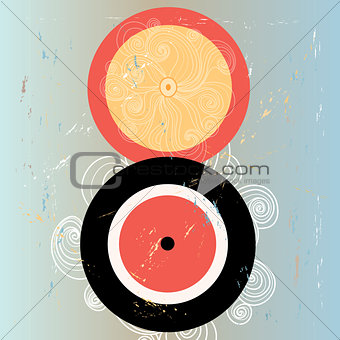 abstract background with plates