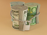 Dollar, euro, ruble on lock