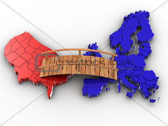 Bridge between europe and usa
