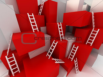 Cubes with ladders