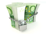 Euro on lock