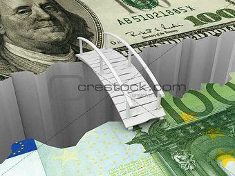 bridge between euro and dollar