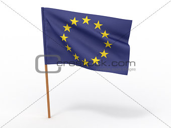 Flag of European Union. 3d