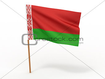Flag of Belorussia. 3d
