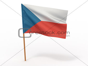 Flag of Czech. 3d