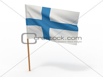Flag of Finland. 3d