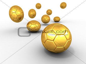 Group of balls. Soccer
