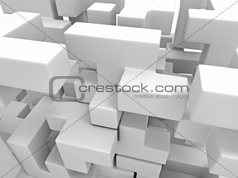 A cube built from blocks. Puzzle