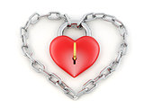 Chain with lock as heart