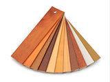 Flooring laminate or parqet samples.