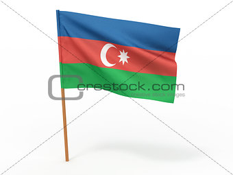 flag of Azerbaijan. 3d