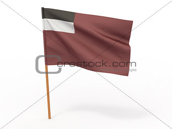 flag of Georgia. 3d