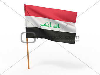 flag of Iraq. 3d