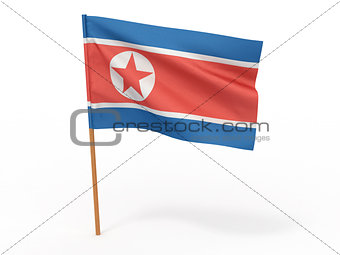 flag of Northern Korea. 3d