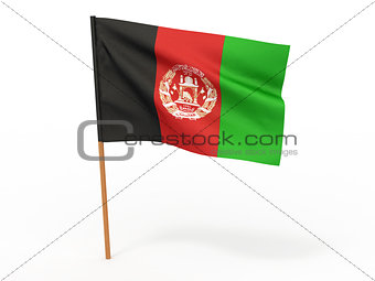 flag of Afghanistan. 3d