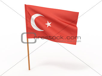 flag of Turkey. 3d