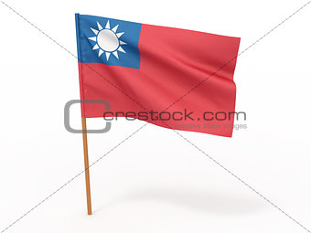 flag fluttering in the wind. Taiwan