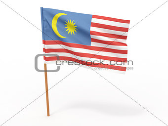 flag fluttering in the wind. Malaisia