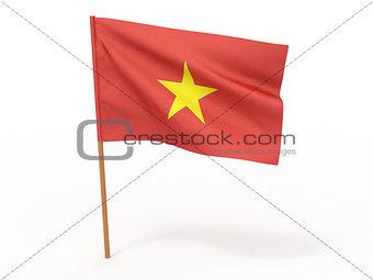 flag fluttering in the wind. Vietnam