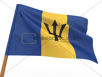 flag fluttering in the wind. Barbados