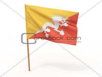 flag fluttering in the wind. Bhutan