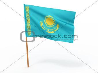 flag fluttering in the wind.Kazakhstan