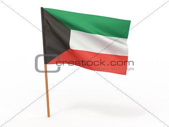 flag fluttering in the wind. Kuwait