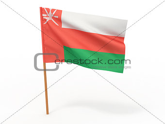 flag fluttering in the wind.Oman