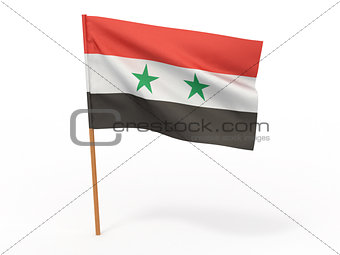 flag fluttering in the wind. Syria