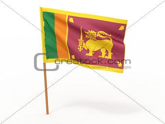 flag fluttering in the wind. Sri-Lanka