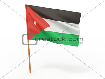 flag fluttering in the wind. Jordan