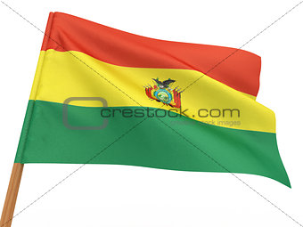 flag fluttering in the wind. Bolivia