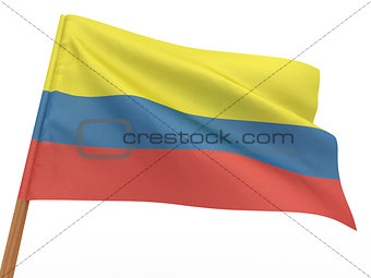 flag fluttering in the wind. Colombia