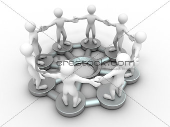 Group of people. Conceptual image of communications or teamwork.