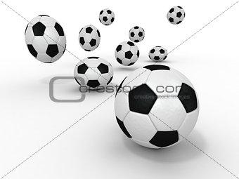 Group of balls. Soccer
