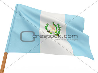 flag fluttering in the wind. Guatemala