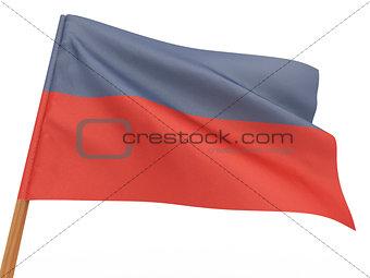 flag fluttering in the wind. Haiti