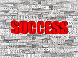 Abstract background from words success. 3d