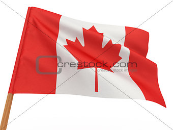 flag fluttering in the wind. Canada