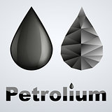 black petroleum drop and abstract drop