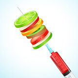 Healthy Fruit in Syringe