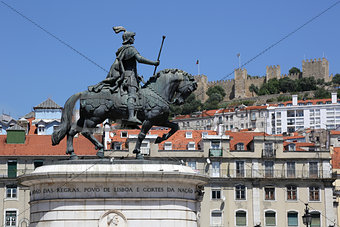 Lisbon Portugal Rossio Praca da Figueira