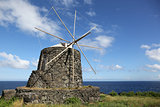 Windmill on the island of Corvo Azores Portugal