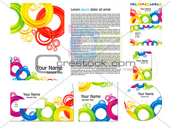 abstract colorful corporate id template