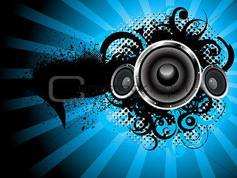 abstract grunge sound background