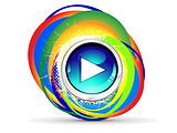 abstract creative rainbow play circle