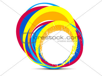 abstract creative rainbow splash circle
